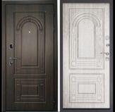 Уличная входная дверь «ДВЕРНОЙ КОНТИНЕНТ ФЛОРЕНЦИЯ орех мокко»